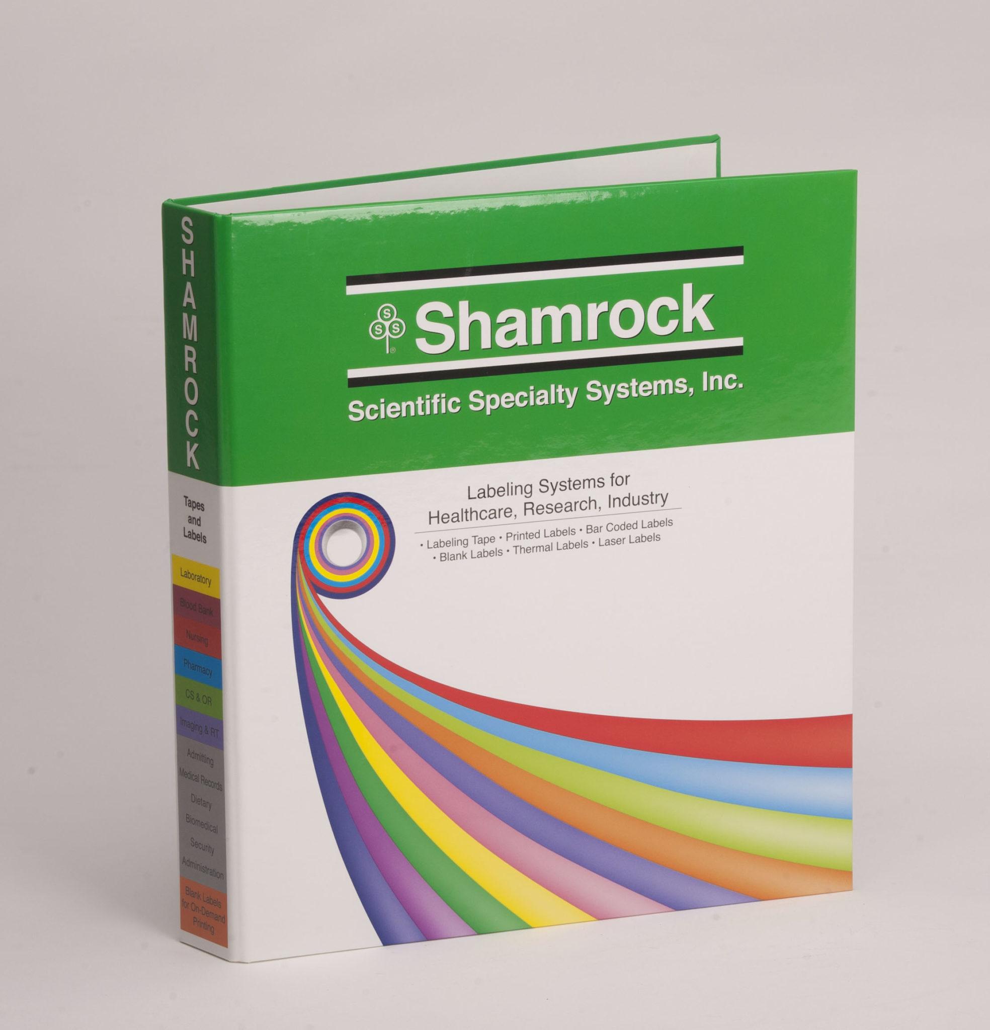 Custom Four Color 3 Ring Binder, Full Color Binder Shamrock