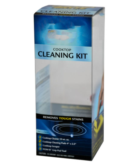 Custom Full-Color Poly Retail Packaging, Cooktop Cleaning Kit