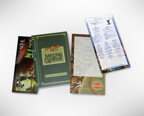 Custom Full-Color Carry Out Menus