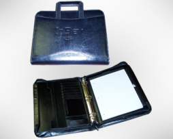 Custom 3 Ring Zipper Binder Leather