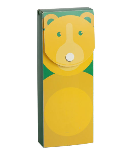 Custom Full-Color Poly Retail Packaging, Bear Box