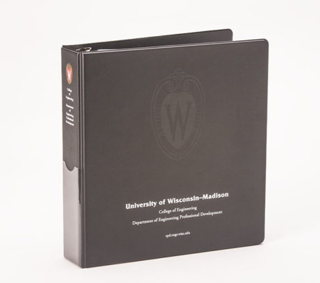 Custom Full-Color 3 Ring Vinyl Binder University of Wisconsin Madison