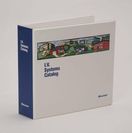 Custom Full-Color 3 Ring Vinyl Binder Baxter IV Systems Catalog