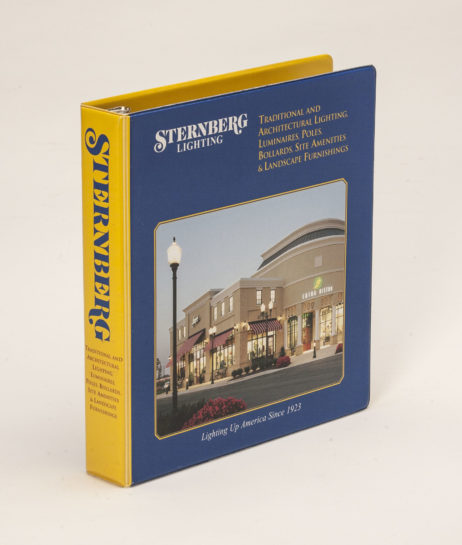 Custom Full-Color 3 Ring Vinyl Binder Sternberg Lighting