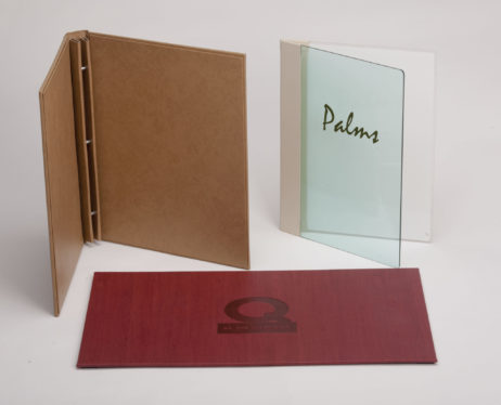 Custom Fine Dining Menu Covers