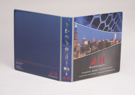 Custom Full-Color 3 Ring Vinyl Binder A:H Manufacturing Inc