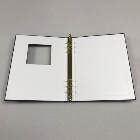Funeral Memorial Guest Book, Black, Laying Flat Open