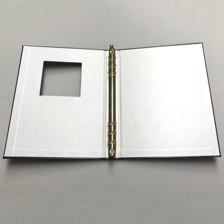 Funeral Memorial Guest Book, Blue, Laying Flat Open