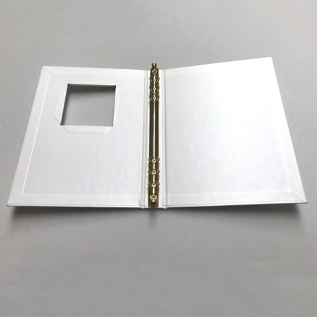 Funeral Memorial Guest Book, White, Laying Flat Open