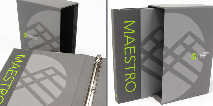 Maestro Custom Corporate Binder