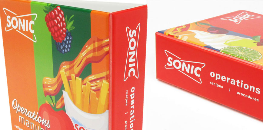 Sonic Custom Corporate Binder